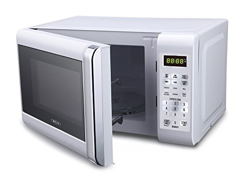 Bella-700-Watt-Compact-Microwave-Oven-07-Cubic-Feet-White-with-Chrome