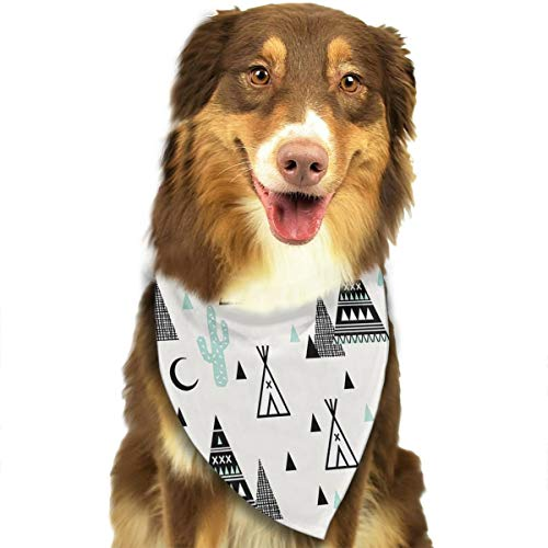 OURFASHION Teepee Cactus Triangle Hipster Bandana Triangle Bibs Scarfs Accessories for Pet Cats and Puppies.Size is About 27.6x11.8 Inches -