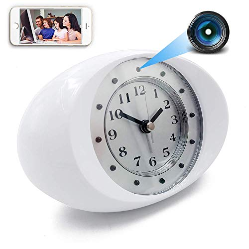 Waynmer WiFi Hidden Camera Clock 1080P Spy Cam, Night Vision and Motion Detection, WiFi and Local Recording Both, Instant Push, Hotspot Mode