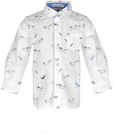 GULLIVER Baby Hemd Hemden Baby Jungen Jungs Blau mit Aufdruck Weich 9-24 Monate 74 80 86 92 cm