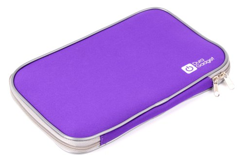 Medium Sized Strong Purple Netbook Carry Bag Fits Compaq CQ60-320SA / Gigabyte P15F V2-CF1