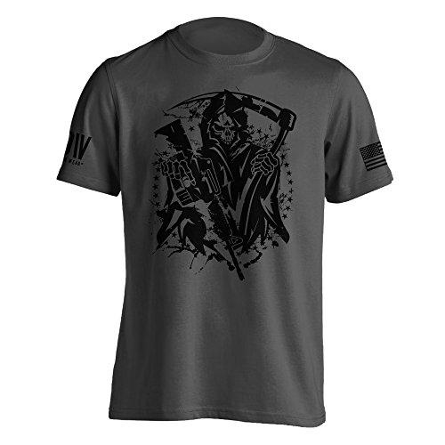 Dion Wear American Grim Reaper Military T-Shirt Medium Charcoal -