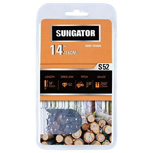 SUNGATOR 14-Inch Chainsaw Chain SG-S52, 3/8