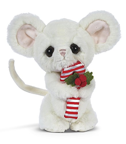 Bearington Big Head Pip Christmas Plush Stuffed Animal Mouse, 8