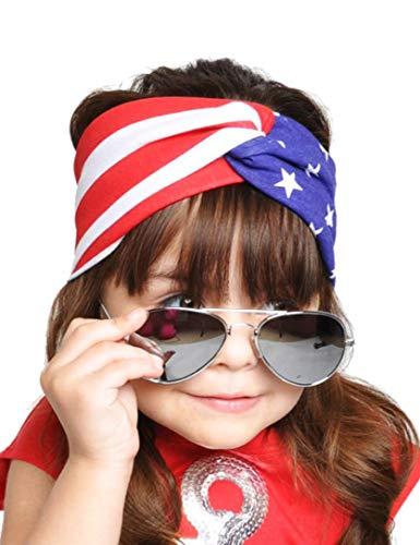 - 4th of July Headband American Flag Bandana USA Headband Red White and Blue Patriotic Headband-Child