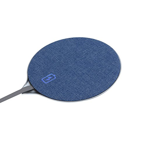 mobfun iPhone X wireless Charger, Jean Fabric Qi Wireless Charger Fast Charging Pad for iPhone X iPhone 8 / 8 Plus Samsung Galaxy Note 8 S8 S8 Plus S7 Edge S7 S6 Edge Plus Note 5 and More