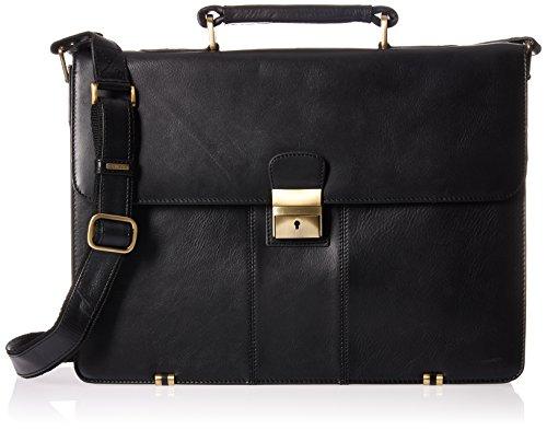 Visconti 1775 Briefcase, Black, One Size