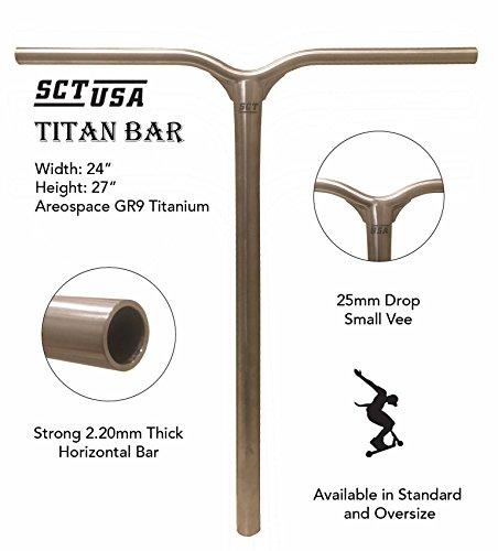 SCT USA Titan Titanium Scooter Bar (Oversized)