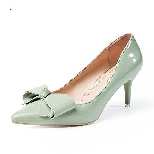 VIVIOO Tacón Alto Zapatos De Tacón Alto De Las Mujeres Modelo Básico BombasZapatos De Boda De Punta Estrecha Zapatos De Color Rosa Zapatos DeFiestaHechos A Mano cyan-blue