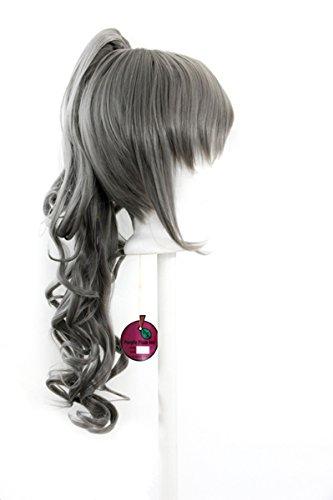 Yuri - Slate Gray Wig 23'' Curly Pony Tail + 12'' Bob Cut Base Wig Set - 12' Slate