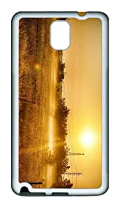 cover coolest summer sun field TPU White case/cover for samsung galaxy note 3 N9000