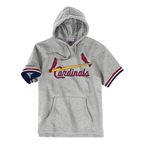 Mitchell & Ness St. Louis Cardinals MLB Drills Short Sleeve Hooded Sweatshirt