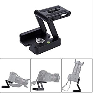 Z Type Universal Quick Release Plate, Foldable Desktop Stand Holder Tripod
