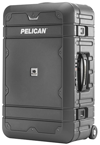 Delsey Black Camera Bag - Pelican Elite Luggage | Carry-On (BA22-22 inch) - Grey/Black