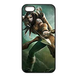 iPhone 5 5s Cell Phone Case Black League of Legends Woad Ashe TJ2779903