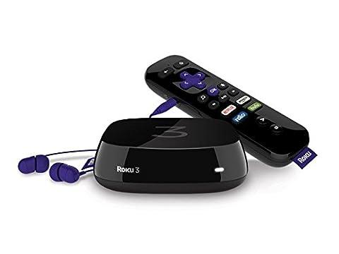 Roku 3 Streaming Media Player (4230R) with Voice Search (2015 Model) (Roku Streaming Sticks)