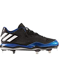 adidas New Mens PowerAlley 4 Baseball Metal Cleats Black/Royal Size 16 M