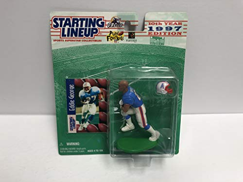 Houston Oilers Memorabilia - Eddie George Houston Oilers 1997 SLU Collectible Toy Action Figure with Trading Card