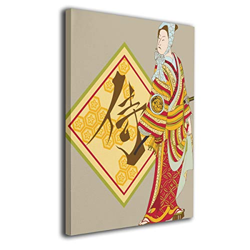 Little Monster Japanese Samurai Stretched Pictures On Canvas Home Decorations Modern Artwork Art for Childrens Bedroom