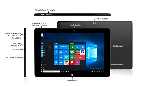 ALLDOCUBE iwork10 Ultimate 2-in-1 Tablet PC(Keyboard Included), Cube 10.1 inch 1920 x1200 IPS Screen Convertible Laptop (Win10 + Android 5.1, Intel Atom X5 Z8350 Quad Core, 4GB RAM,64GB ROM ), Black by ALLDOCUBE (Image #4)