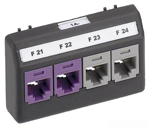 - Panduit UICFFP4BL 4-Port Modular Furniture Faceplate, Black