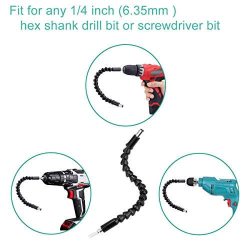 Flexible Drill Bit Extension 2020 Upgraded 1/4