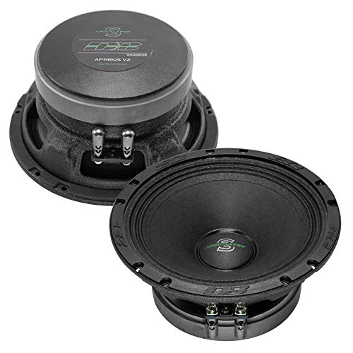 - Deaf Bonce Apocalypse AP-M60S V2 6.5-Inch Car Speakers | Audio Accessories with Mid-Range Level | Max Surround Sound Speaker System | Premium Music and Bass | High Power Clear Stereo Sounds | 1 Pair