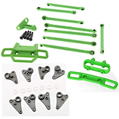 Traxxas 1/16 Grave Digger GREEN FRONT & REAR BUMPERS, LINKS, RODS & ROCKERS