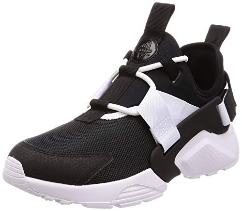 Nike Women's Air Huarache City Low Running Shoe (Black/Black/White, 7 M US)