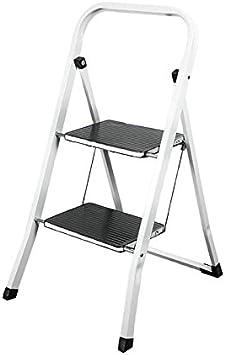 WURKO 130110 - Taburete-escalera 2 peldaños (vs1039) tubo cuadrado: Amazon.es: Bricolaje y herramientas