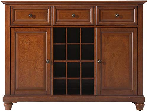 Crosley Furniture Cambridge Wine Buffet / Sideboard - Classic Cherry (Sideboard 12)