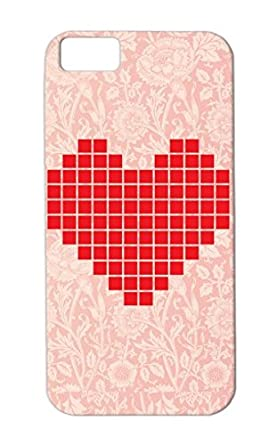 Tpu Durable Geek Red Pixel Love Cute Symbols Shapes Videogames Heart