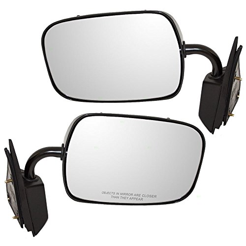 - Driver and Passenger Manual Side View Below Eyeline Mirrors Replacement for Chevrolet GMC Pickup Truck 15697329 19177485