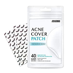 Avarelle Acne Pimple Patch (40 Count) Absorbing Hydrocolloid Spot Treatment with Tea Tree Oil, Calendula Oil and Cica, Vegan, Cruelty Free Certified