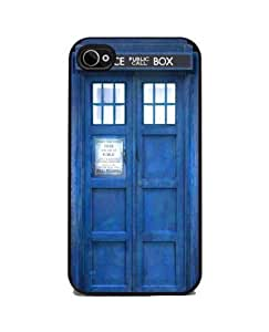 iphone covers TARDIS Blue Police Call Box - iPhone 5c and 4s Silicone Rubber Cover, Cell Phone Case