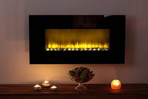 Eurosell Designer LED pared Chimenea Chimenea Eléctrica/efecto Fuego LED – Intensidad Potencia 2 niveles de calor ajustable – 2000 W mando a distancia ...