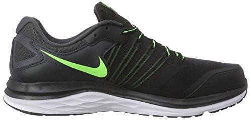 Nike Dual Fusion X - Zapatillas de running Hombre Negro / Verde / Blanco (Black / Vltg Green-Anthrct-Wht)