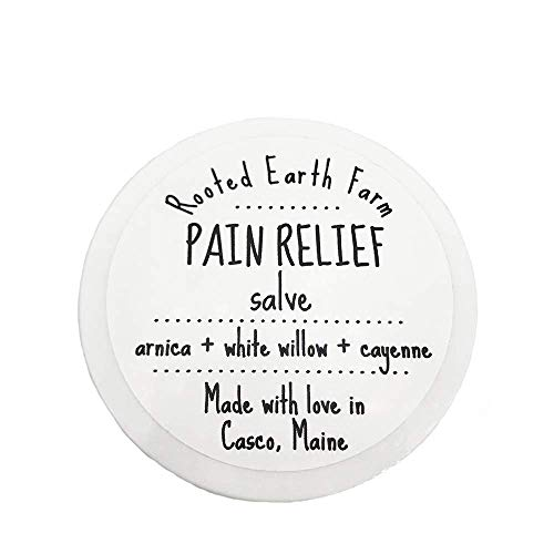 (Pain Relief Salve 2 oz organic herbal cream for muscle aches, joint pain, back pain)