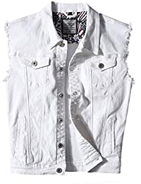 Men's Casual Button-Down Denim Vest Trucker Jean Jacket
