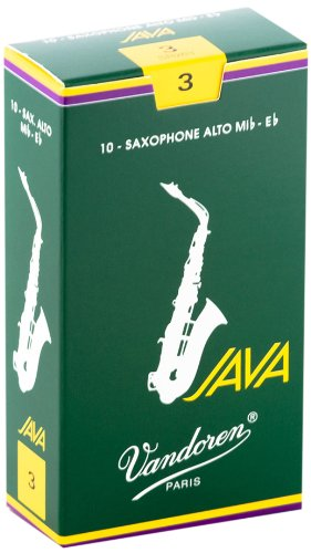 Vandoren SR263 Alto Sax JAVA Reeds Strength 3; Box of 10