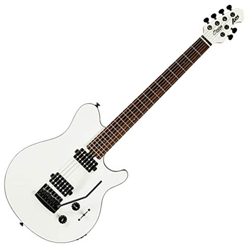 Sterling By MusicMan 6 String Music Man Axis AX3S Electric Guitar in White with Black Body Binding, (AX3S-WH-R1)