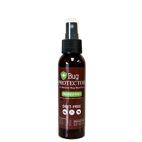 - Bug Protector All Natural Mosquito Gnat and Insect Repellent Spray Deet Free (4 oz)
