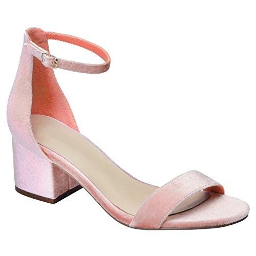 80693339d1a SNJ Women s Ankle Buckle Dress Mid Chunky Block Heel Sandals - Buy Online  in Oman.