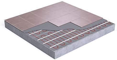 Alfombrilla de calefacci/ón el/éctrica para suelo radiante 200 W//m/² autoadhesiva