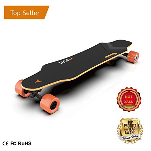 MEJC M-1 SERIES ELECTRIC LONG BOARD MOTORIZED SKATEBOARD DUAL HUB MOTORS V.2 (M-1B)