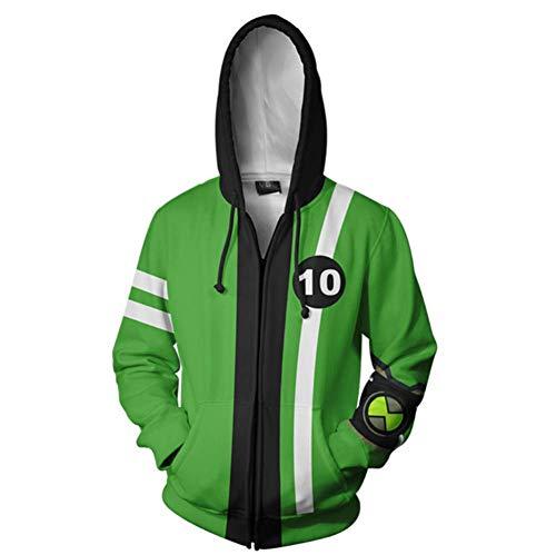 SHKEHO-kehong Tennyson Hoodie Jacket Costume Swratshirt Pullover for Kids Adult (4-5T, Ben 10) -
