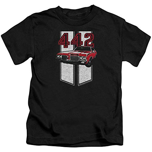 Price comparison product image Oldsmobile Little Boys' 442 Childrens T-Shirt 4 Black