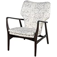 New Pacific Direct 413034-211 Colinn Arm Chair, Smoky Petal White