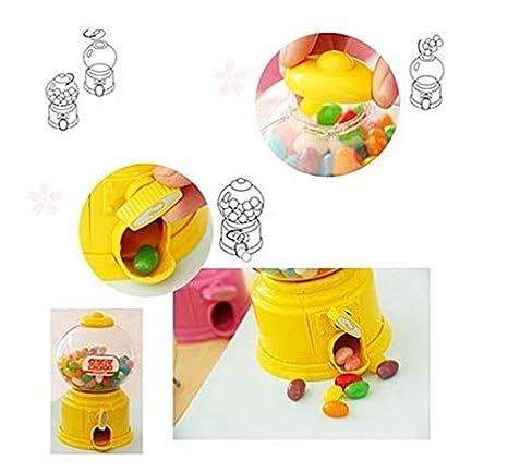 Maquina dispensadora de chuches diseño Retro Color Rojo para chicles, Caramelos, gominolas, invitad@s Fiesta, cumples, Detalle Boda niños, escaparates de ...