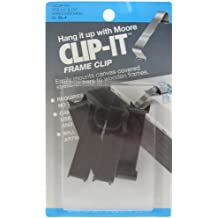 Moore Push-Pin Clip It Frame Clips, 4 Clips per Pack